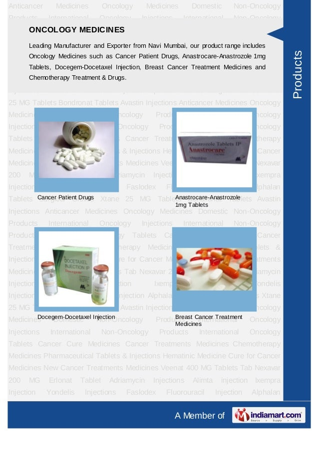 Anticancer      Medicines        Oncology       Medicines         Domestic          Non-OncologyProducts     International...