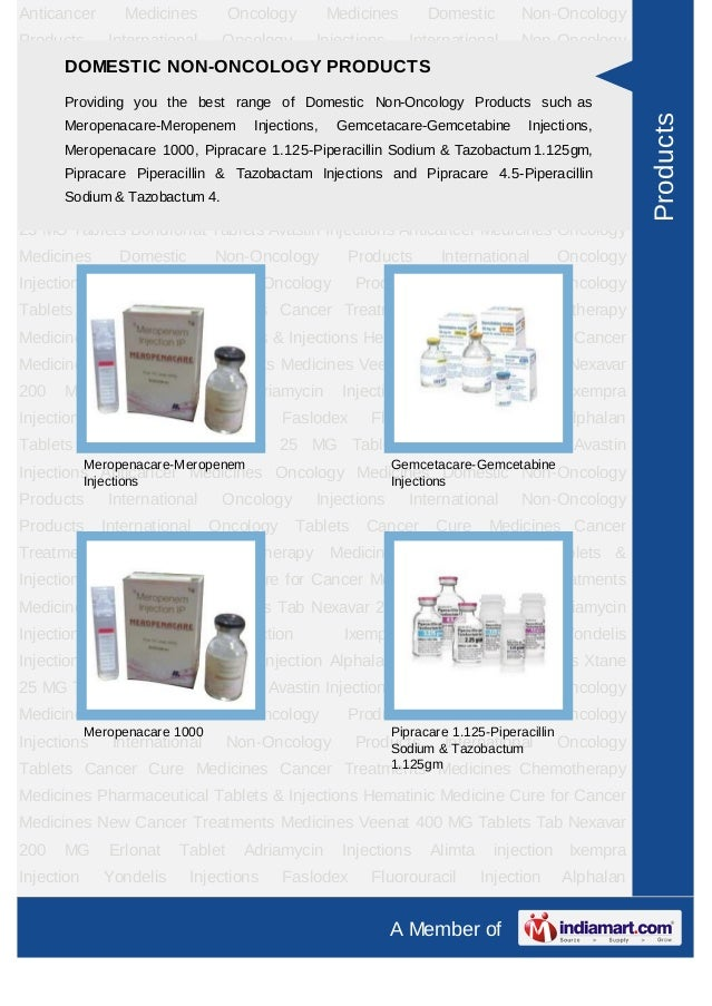 Anticancer       Medicines        Oncology        Medicines         Domestic        Non-OncologyProducts       Internation...