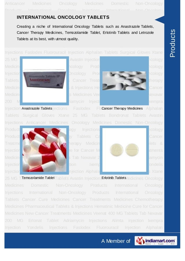 Anticancer      Medicines        Oncology       Medicines         Domestic       Non-OncologyProducts     International   ...