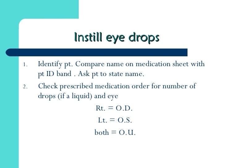 how to write eye drop prescription