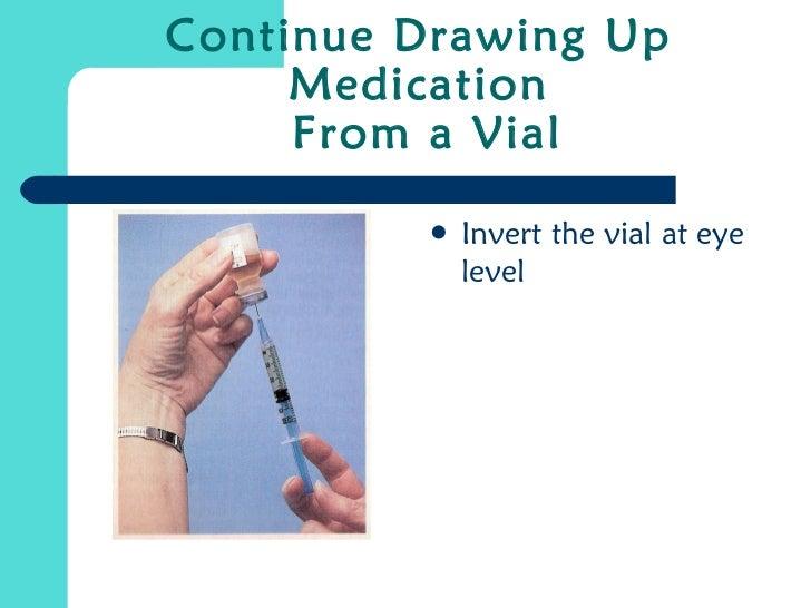 Drawing up medication