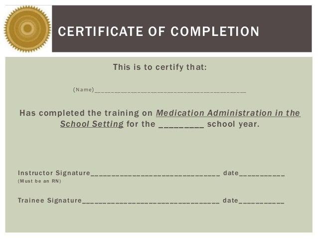 medication administration recertification