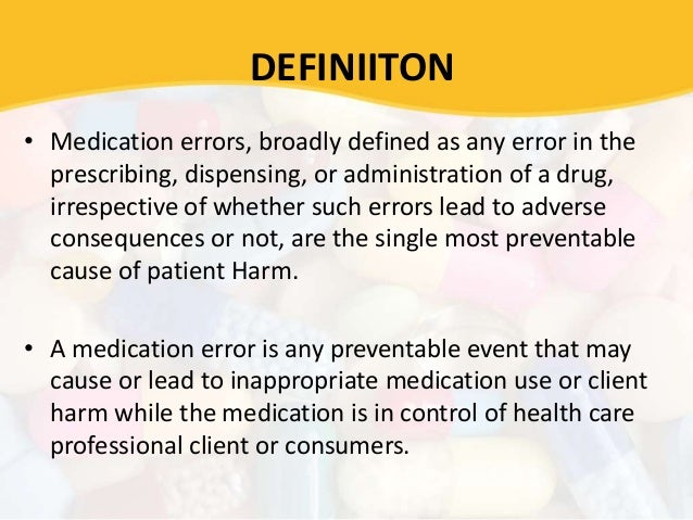 nursing research paper on medication error Visit for more related articles at international journal of drug development and   (2006) types of medication errors in north carolina nursing homes: a target.