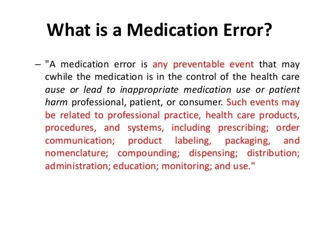 NCC MERP Index for Categorizing Medication Errors Algorithm