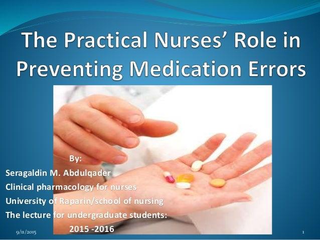 Ethical on medication errors by nurses