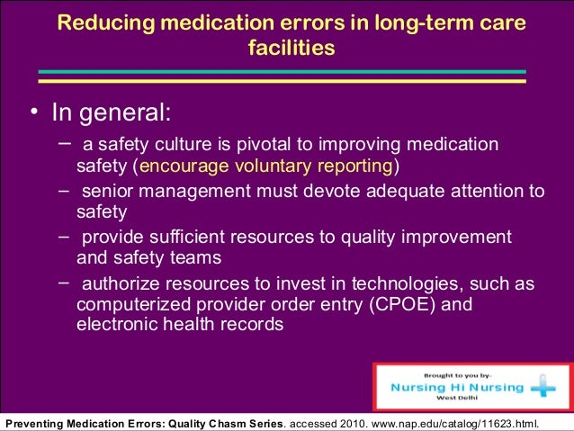 quality improvement plan medication errors This toolkit for addressing medical errors in hospitals includes a framework for developing a plan and ten tools hospitals can customize these tools to.