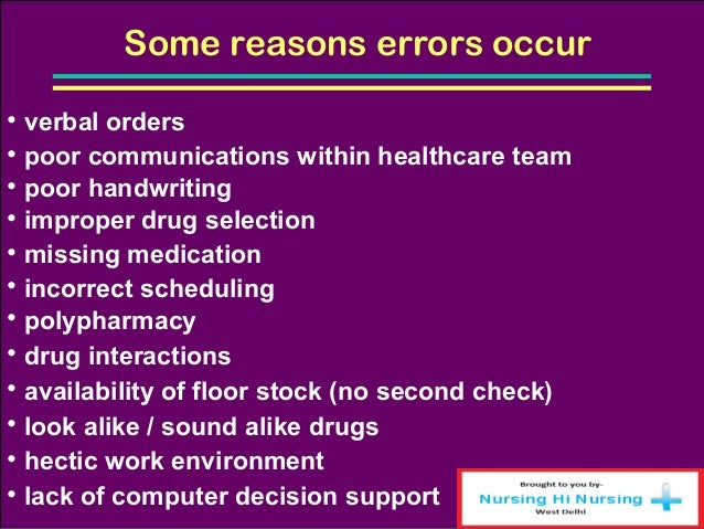 Medication Errors In Long Term Care