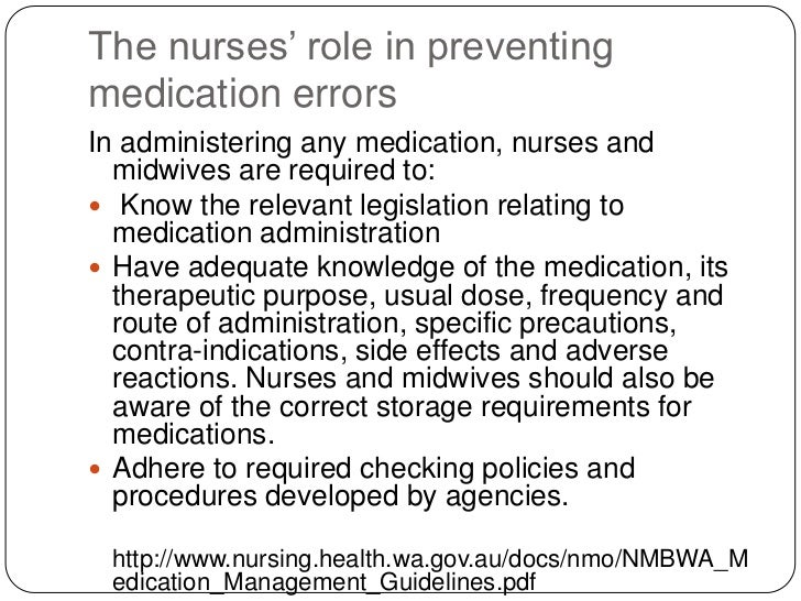 medication policy and procedures