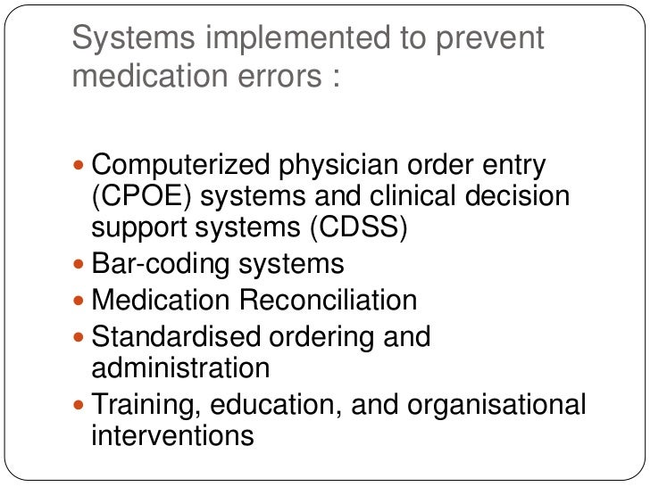 Medication Errors Powerpoint