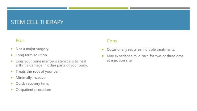 Medication, replacement, or stem cell therapy