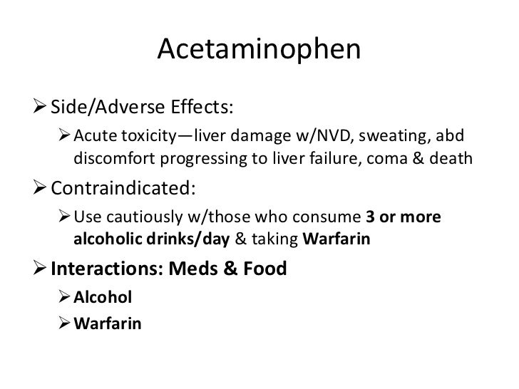 Or More Alcoholic Drinks Acetaminophen