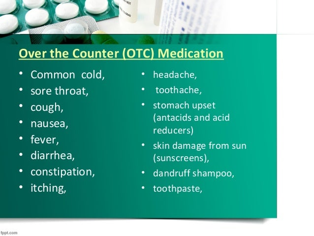 Medications Vocab
