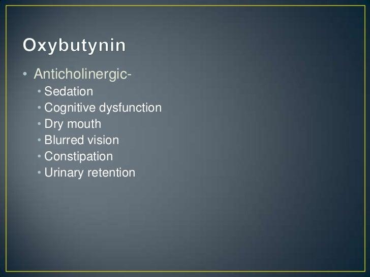 Oxybutynin Side Effects Elderly