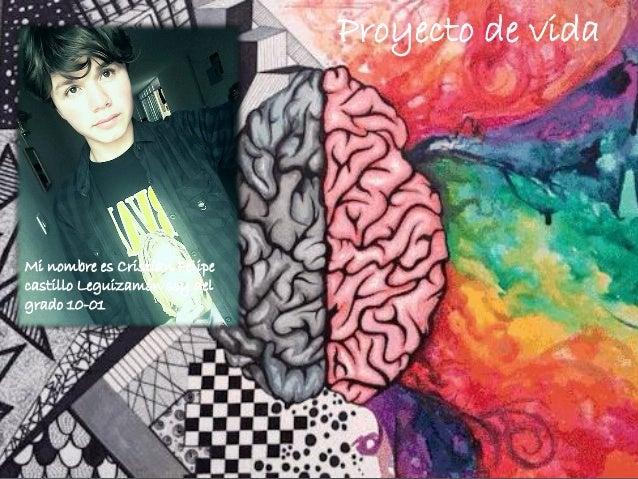 Mi nombre es Cristian Felipe castillo Leguizamón soy del grado 10-01 Proyecto de vida