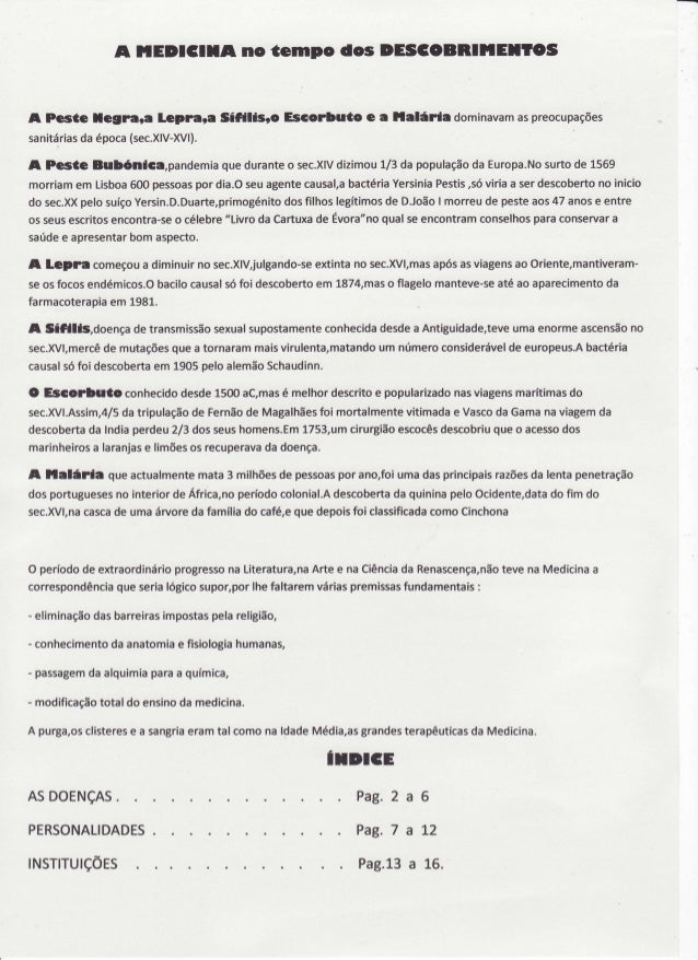 A llEDlClXA  nc tcmpc  l'etrrnara SÍfillgrc A Pceúe legrara sanitárias época(sec.XlV-XVl). da  dcs DEISCCBRIilEIICS  Esccr...