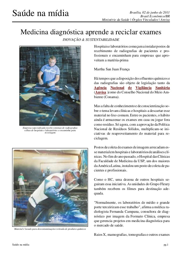 Saúde na mídia                                                                                    Brasília, 02 de junho de...