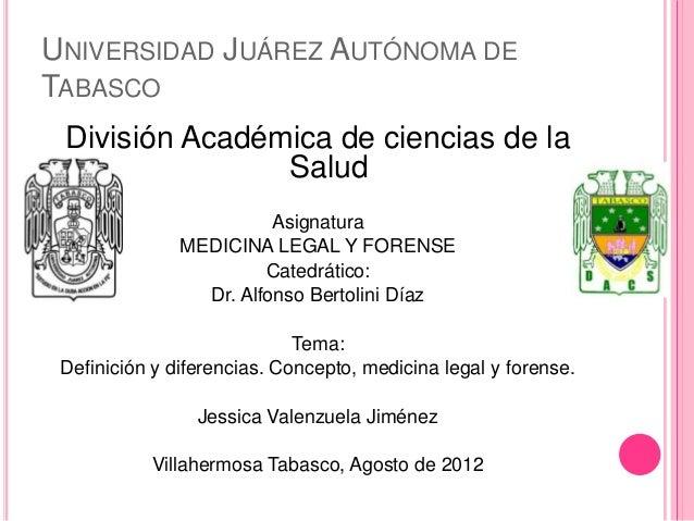 UNIVERSIDAD JUÁREZ AUTÓNOMA DETABASCO División Académica de ciencias de la                Salud                         As...