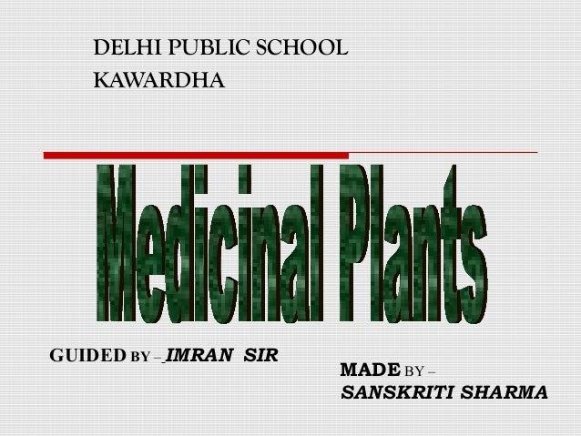 DELHI PUBLIC SCHOOL  KAWARDHA  GUIDED BY – IMRAN SIR  MADE BY –  SANSKRITI SHARMA
