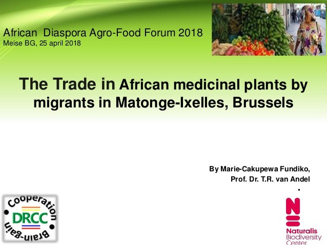 The Trade in African medicinal plants by migrants in Matonge-Ixelles, Brussels By Marie-Cakupewa Fundiko, Prof. Dr. T.R. v...