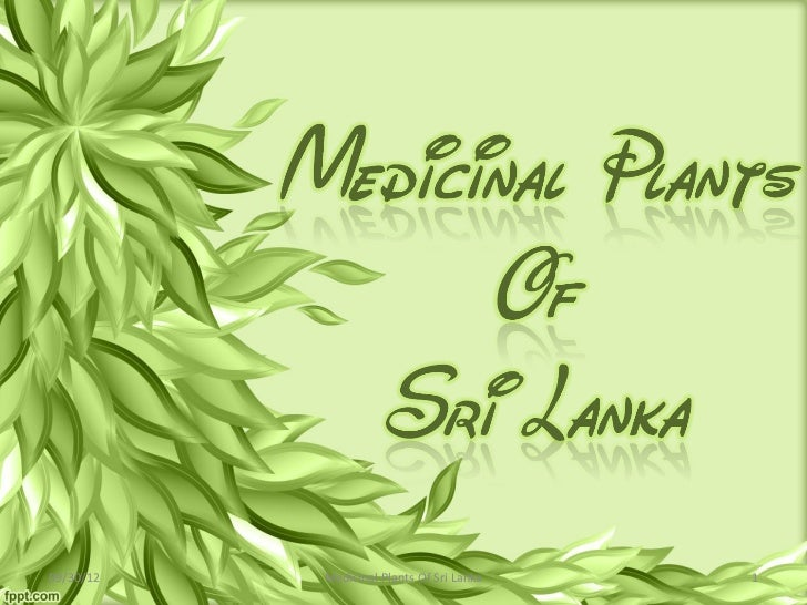 09/30/12   Medicinal Plants Of Sri Lanka   1