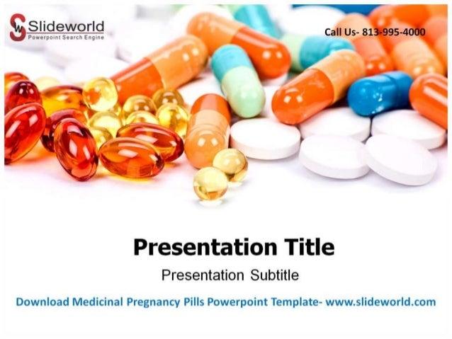 Medicinal Pregnancy Pills Powerpoint Template