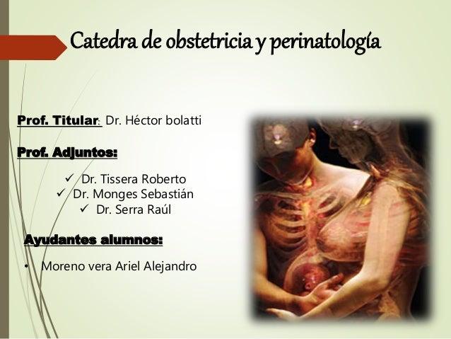 Catedra de obstetricia y perinatología Prof. Titular: Dr. Héctor bolatti Prof. Adjuntos:  Dr. Tissera Roberto  Dr. Monge...