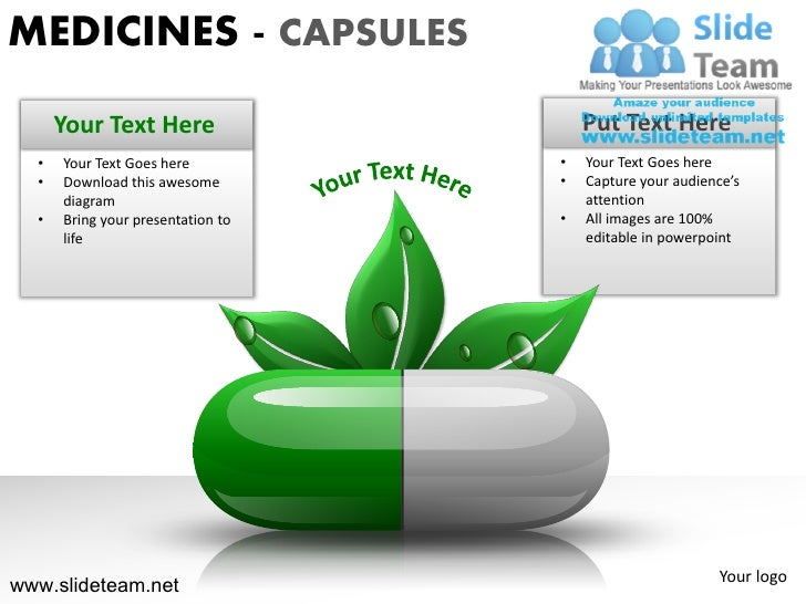 MEDICINES - CAPSULES      Your Text Here                   Put Text Here  •   Your Text Goes here          •   Your Text G...