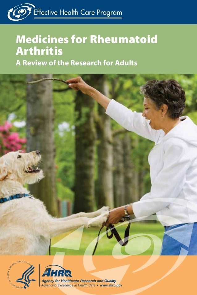 Medicines for Rheumatoid Arthritis A Review of the Research for Adults