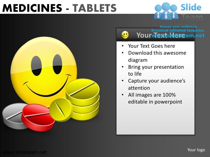 MEDICINES - TABLETS                           Your Text Here                      • Your Text Goes here                   ...