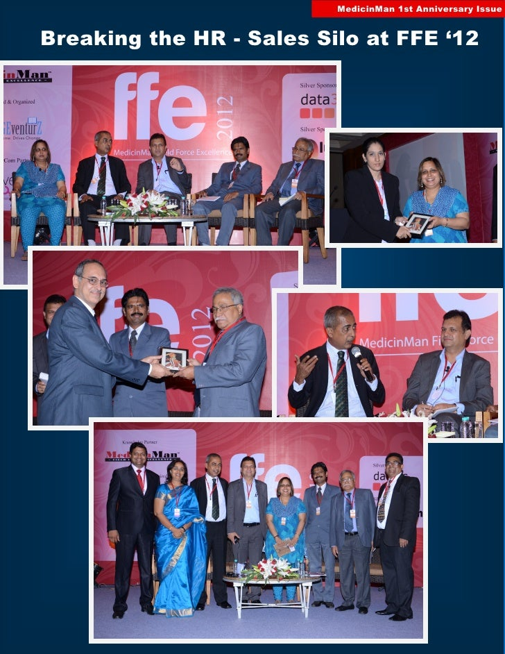 MedicinMan 1st Anniversary IssueBreaking the HR - Sales Silo at FFE '12