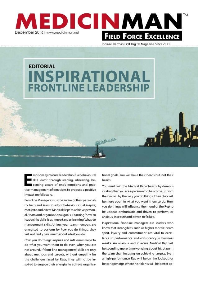 Pharma Front-line Manager - How to Inspire Peak Performance