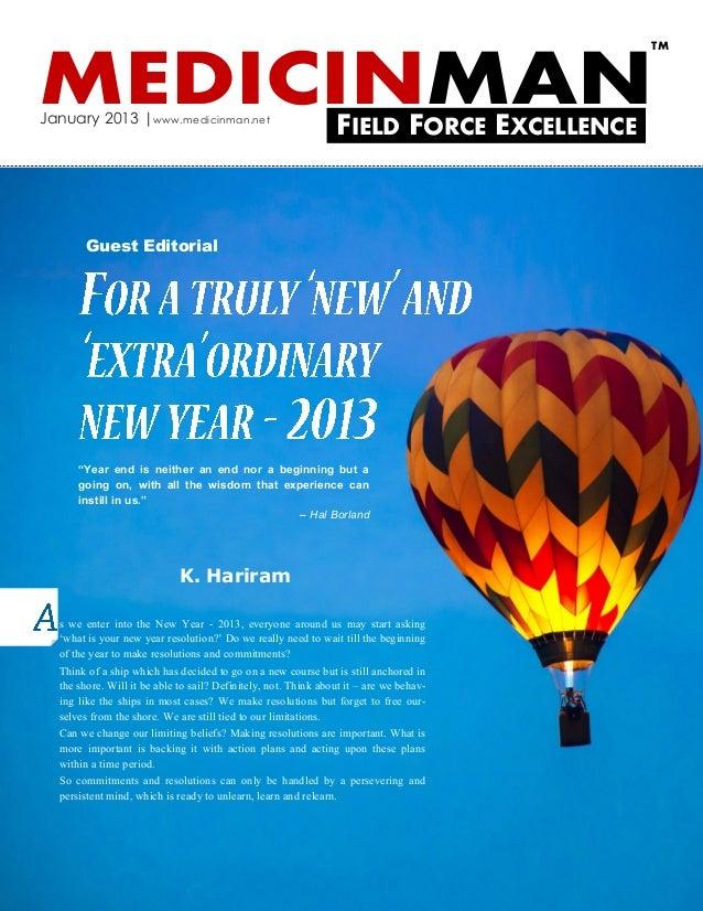 TMMEDICINMANJanuary 2013   www.medicinman.net                                                                FIELD FORCE E...