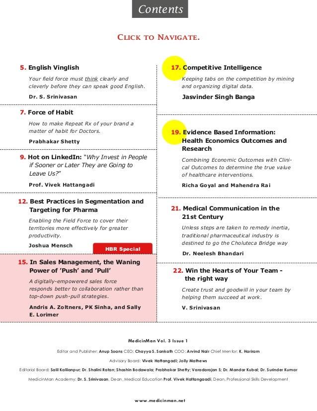 Pharma Field Force Excellence - MedicinMan January 2013 Slide 3