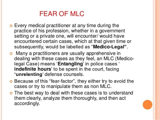 Medico legal issues 5 fear of mlc altavistaventures Images