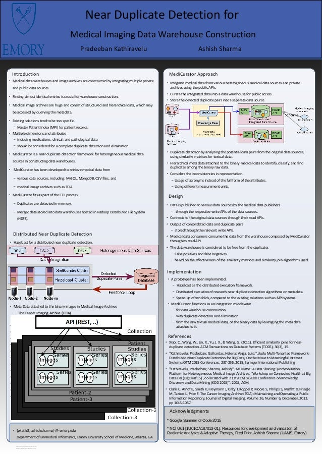 RESEARCH POSTER PRESENTATION DESIGN © 2015 www.PosterPresentations.com Introduction Distributed Near Duplicate Detection ●...