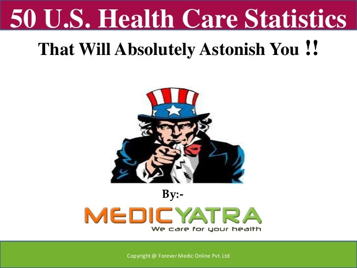 50 U.S. Health Care Statistics  That Will Absolutely Astonish You                      !!                          By:-   ...
