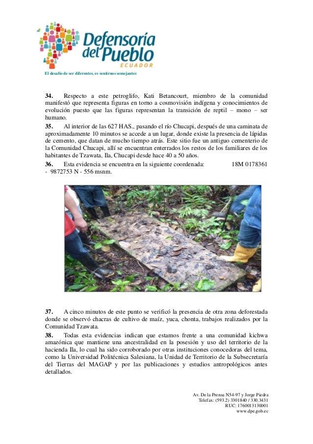 El desafío de ser diferentes, es sentirnos semejantes Av. De la Prensa N54-97 y Jorge Piedra Telefax: (593.2) 3301840 / 33...