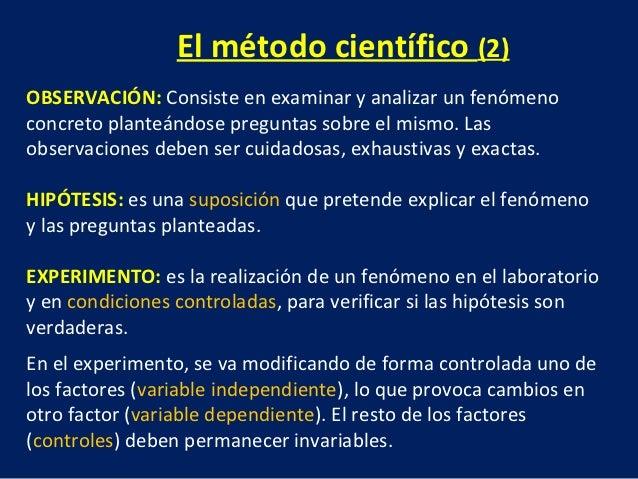 Medida y metodo cientifico for En que consiste el metodo cientifico