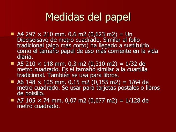 Medidas de papel for 1 cuarto de cartulina