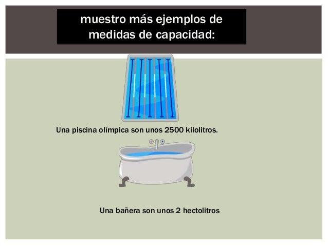 Medidas de capacidad for Medidas de una piscina olimpica