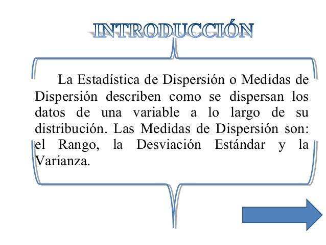 Medidas de dispersión Slide 2