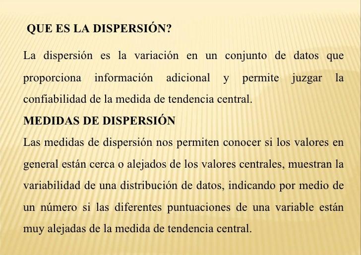 Medidas de dispersion Slide 2
