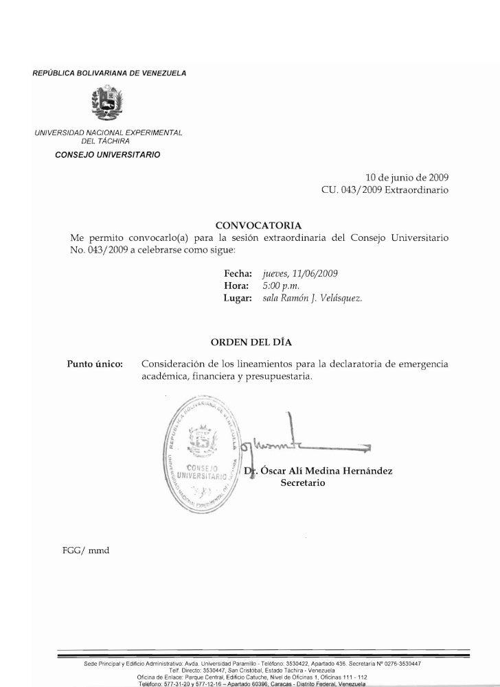 REPUBLICA BOLIVAR/ANA DE VENEZUELA     UN/VERSIDAD NACI ONAL EXPERIMENTAL            DEL TAcHIRA       CONSEJO UNIVERSITAR...