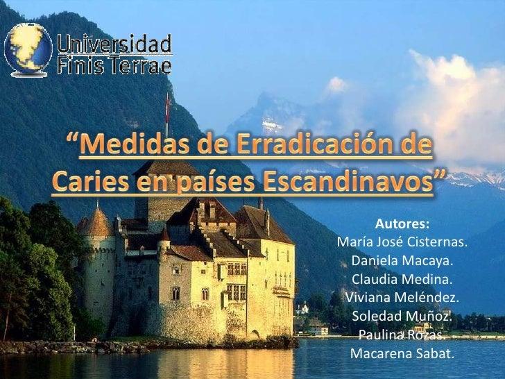 Autores: María José Cisternas.   Daniela Macaya.   Claudia Medina.  Viviana Meléndez.   Soledad Muñoz.    Paulina Rozas.  ...