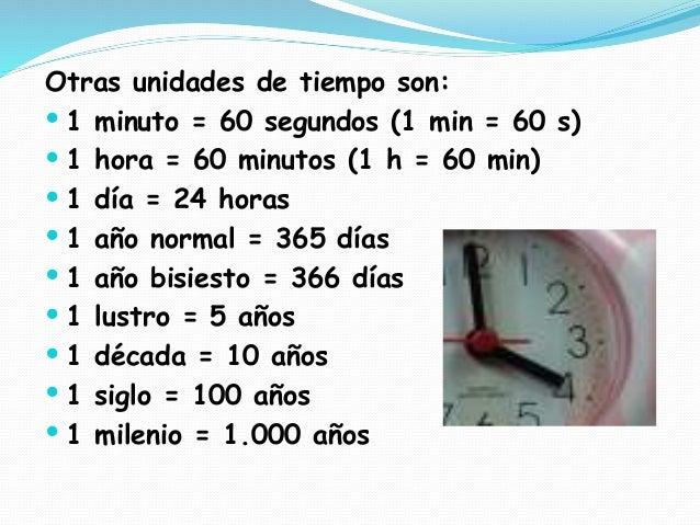 Resultado de imagen de medidas de tiempo