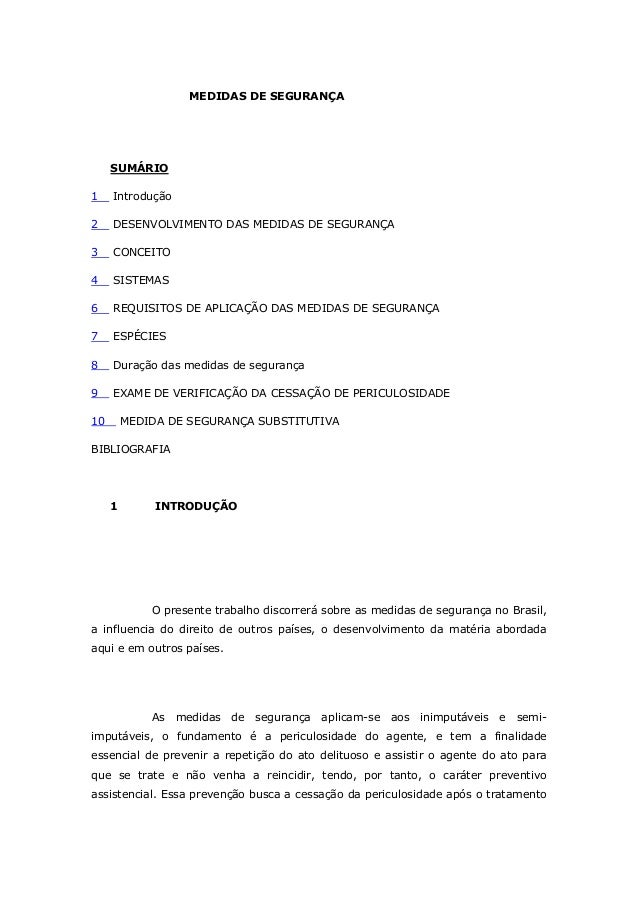 MEDIDAS DE SEGURANÇA SUMÁRIO 1 Introdução 2 DESENVOLVIMENTO DAS MEDIDAS DE SEGURANÇA 3 CONCEITO 4 SISTEMAS 6 REQUISITOS DE...