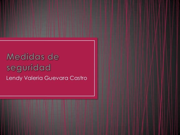 Medidas de seguridad<br />Lendy Valeria Guevara Castro<br />