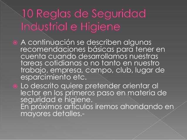 Medidas de serguridad e higiene industrial luigui Slide 2