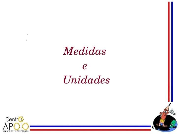 Medidas   eUnidades