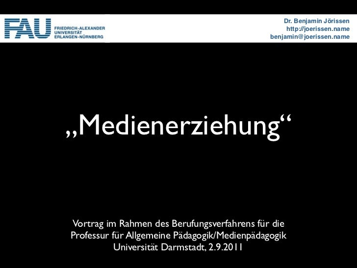Dr. Benjamin Jörissen                                                   http://joerissen.name                             ...